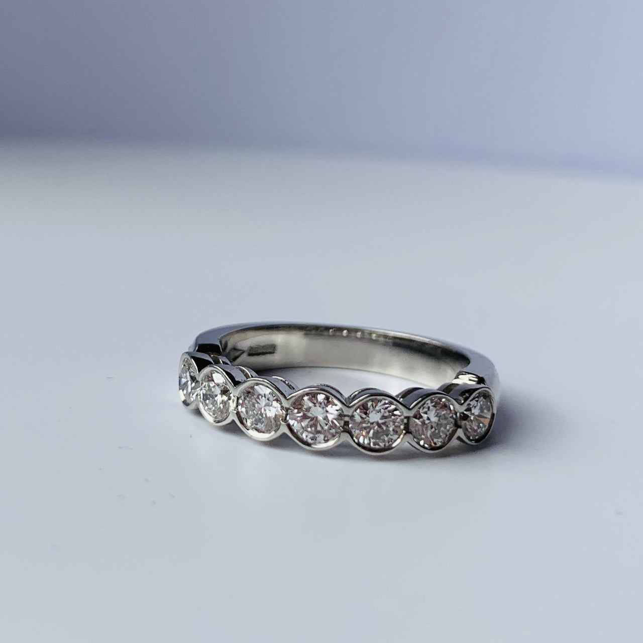 Scallop Diamond Eternity Band