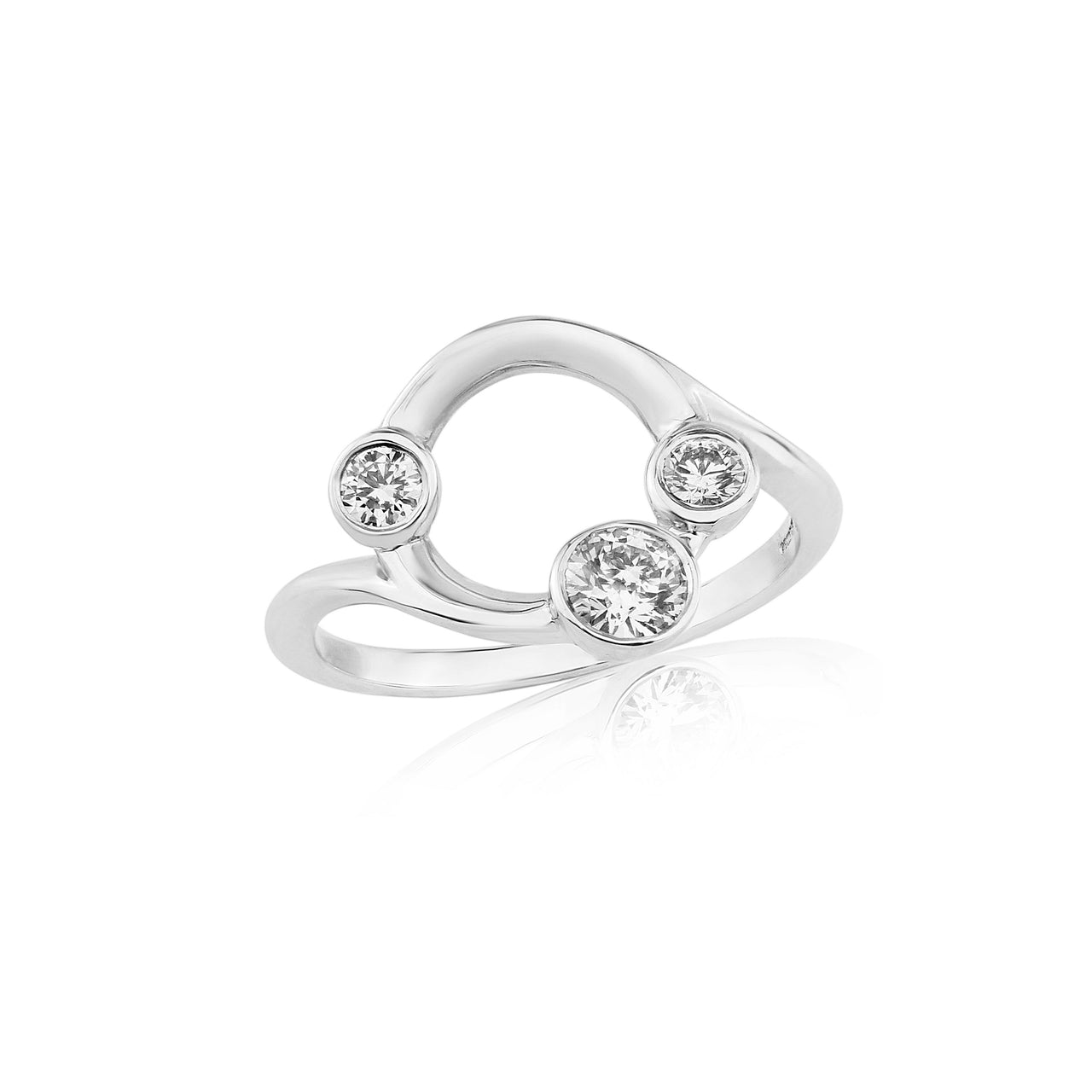 Eclipse 3 Stone Diamond Ring