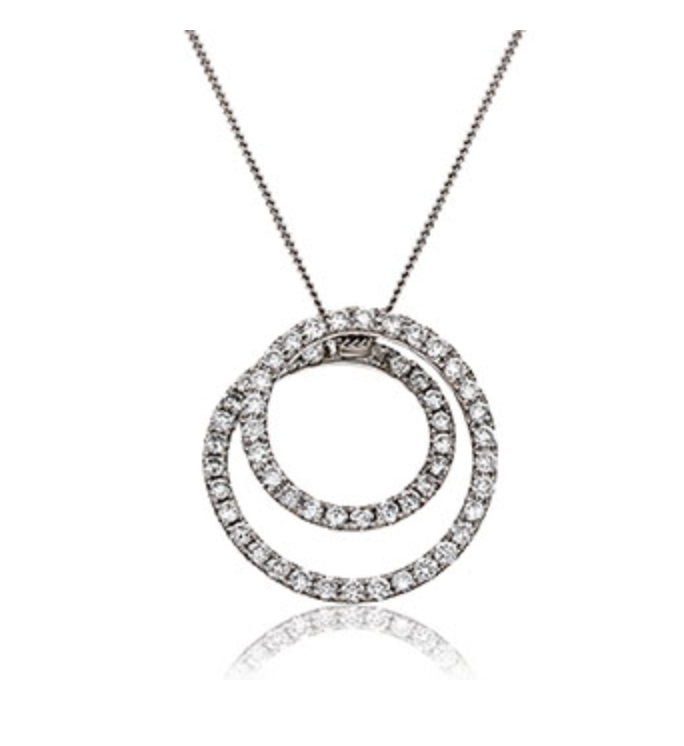Spiral Diamond Pendant