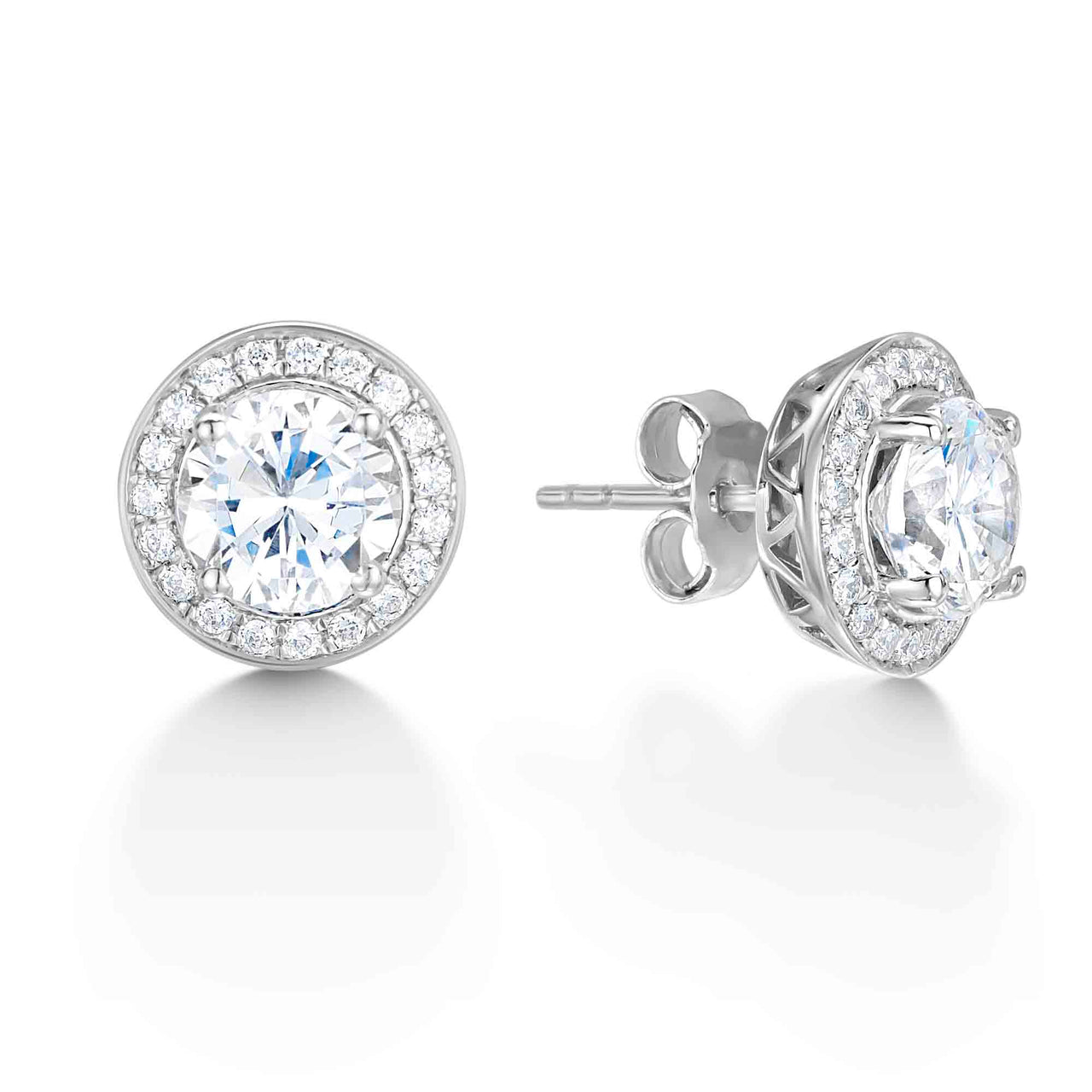Vintage Surround Diamond Stud Earrings
