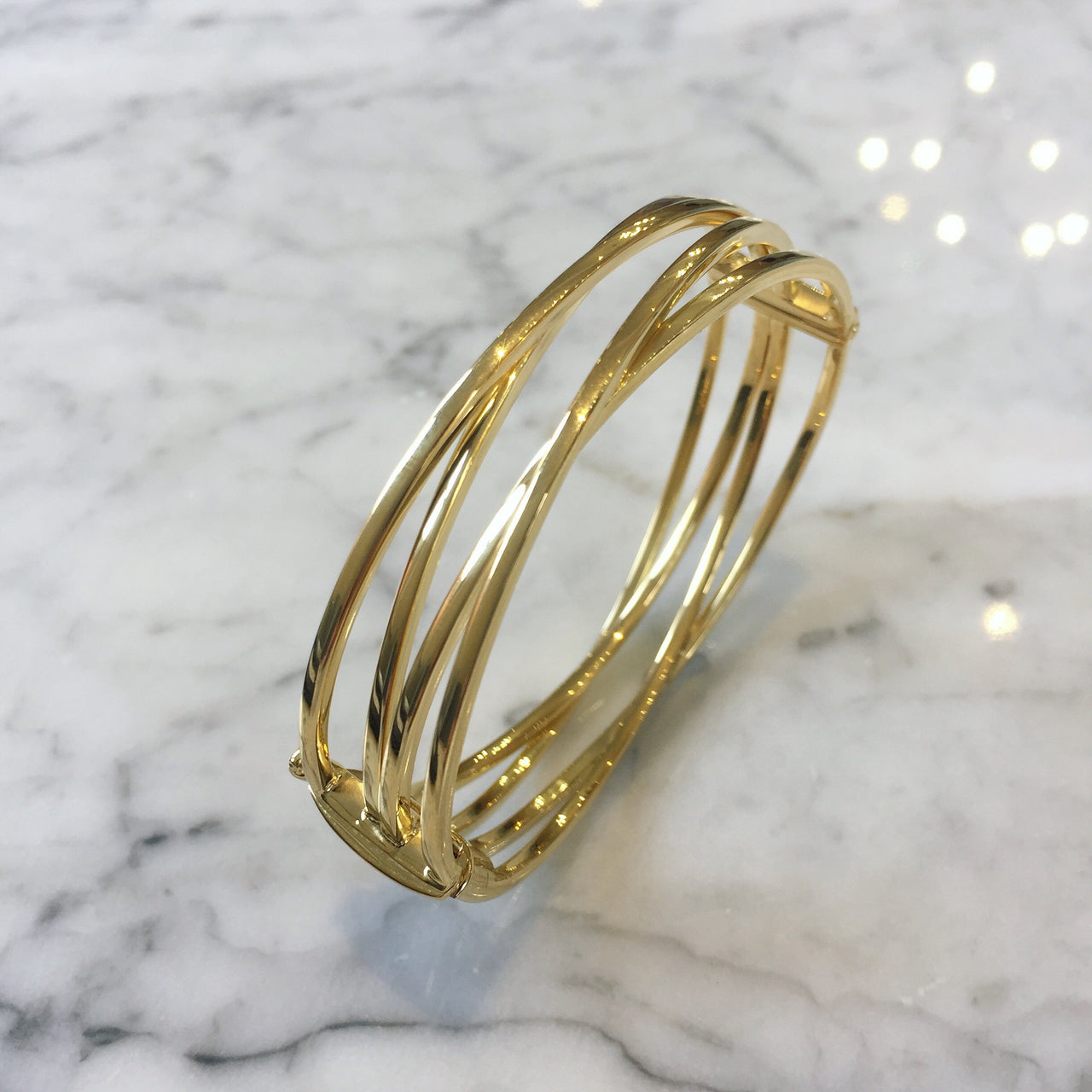 Double Cross Over Bangle