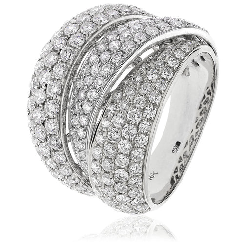 Trilogy 3 Row Pavé Ring- Small