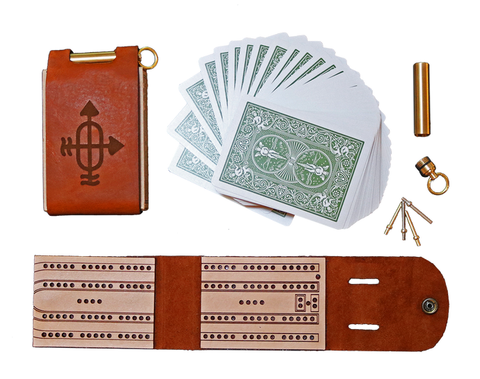 Leather Travel Cribbage