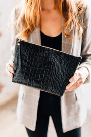 Large Makeup Bag-Croco