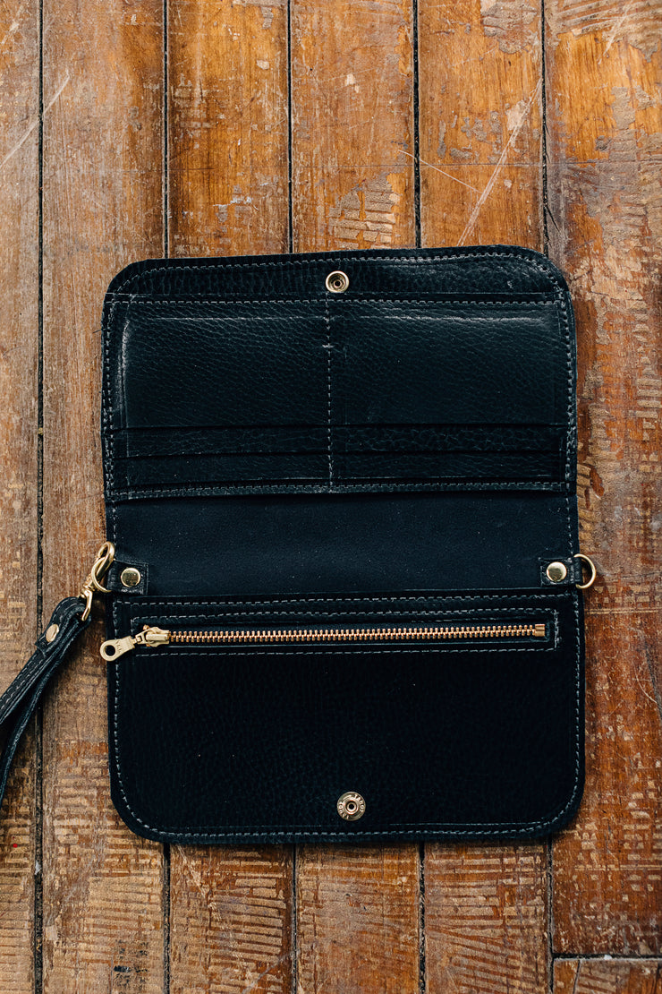 Crossbody Wallet-Black