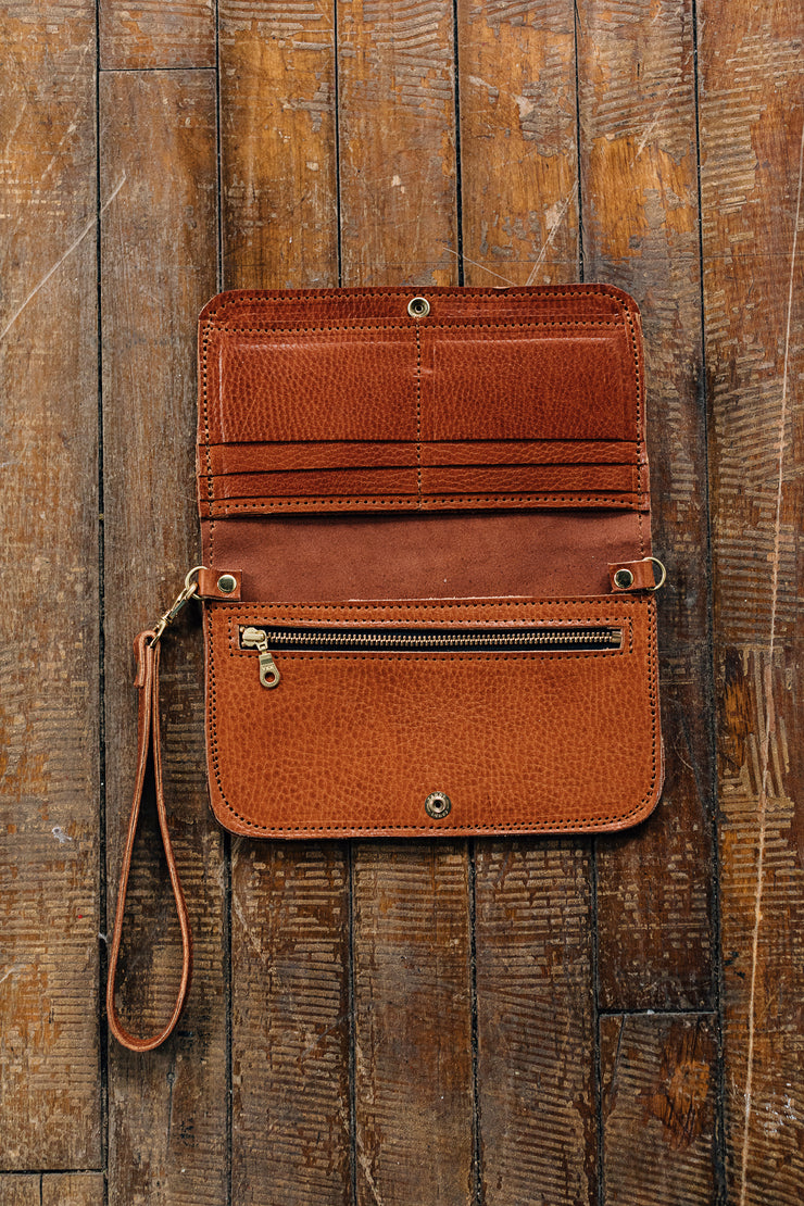 Crossbody Wallet-English Tan