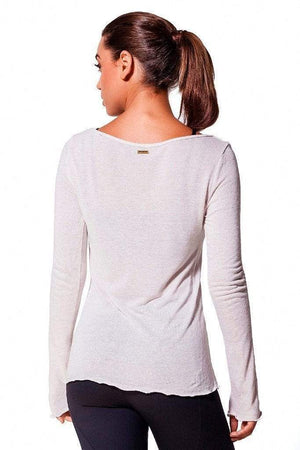 Beige Linen V-neck Top - Sam's Fitness Goods