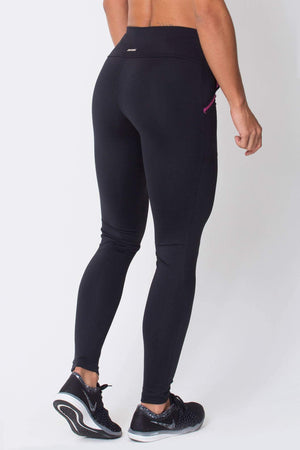 Black With Pink Pocket Legging - Sam's Fitness Goods