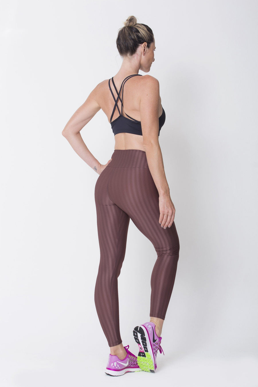 Brown 3D Disco Leggings - Sam's Fitness Goods