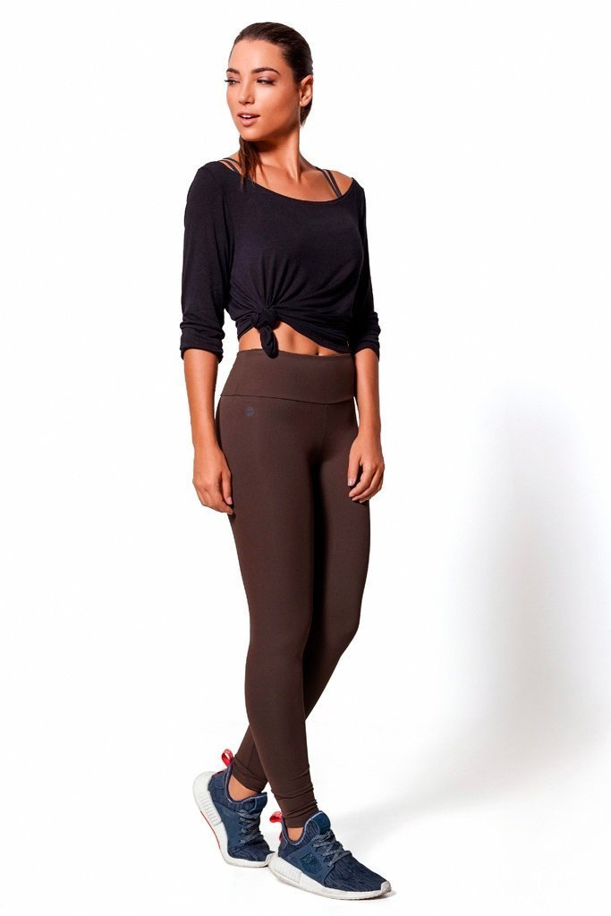 Brown Basic Legging - Sam's Fitness Goods