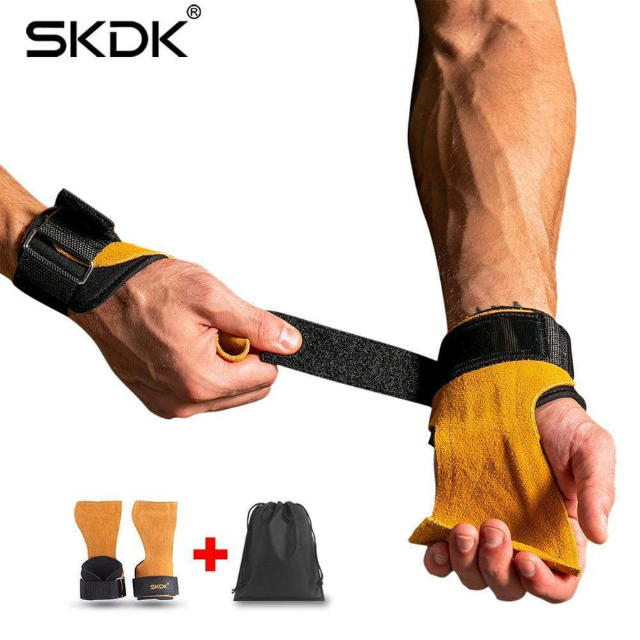 Cowhide Anti-Skid Hand Grips - Sam's Fitness Goods