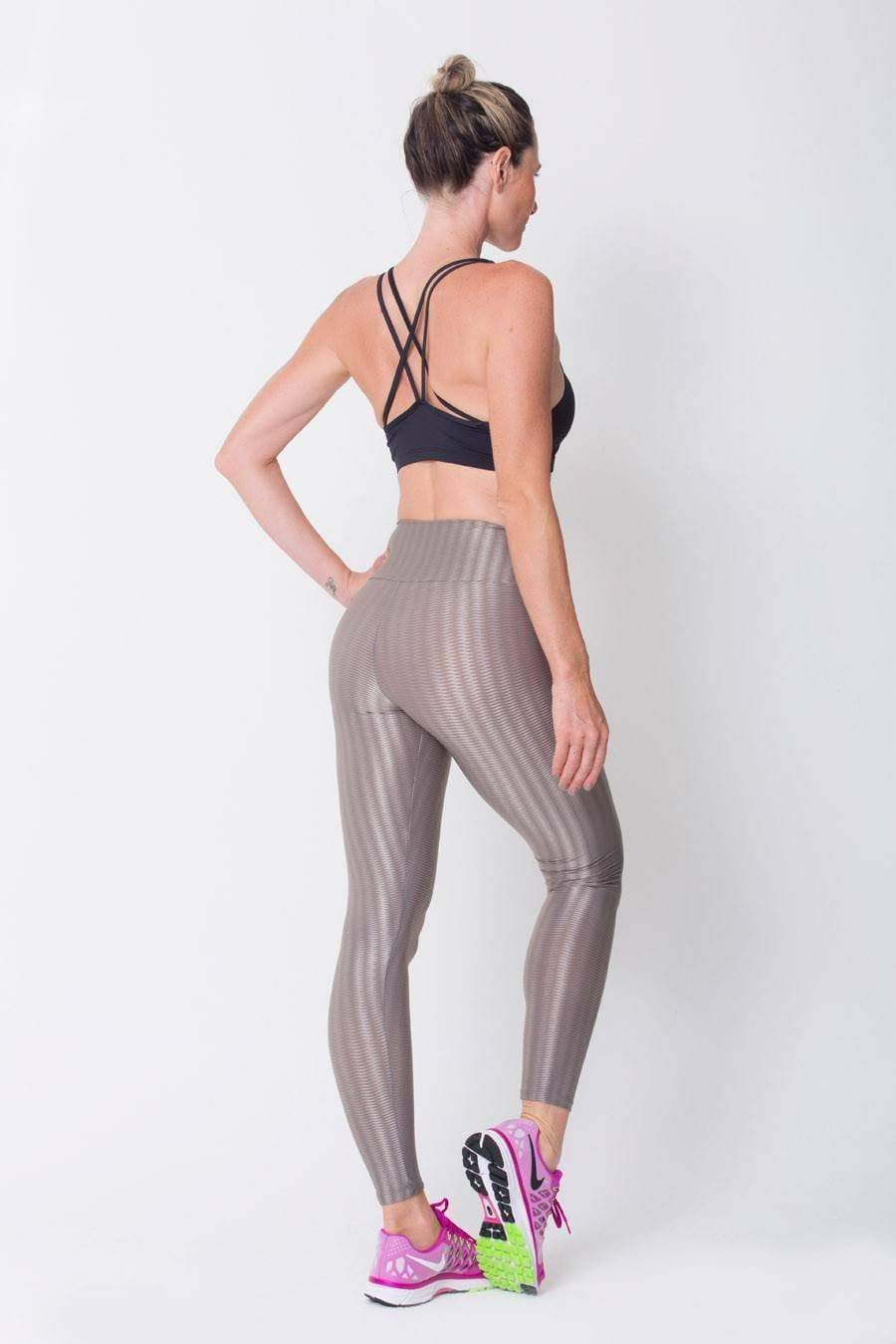 Grey	3D Disco Leggings - Sam's Fitness Goods