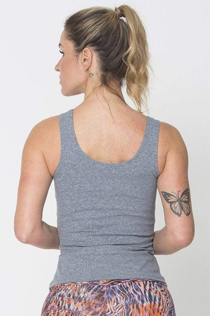 Heather Grey Power Tank - Sam's Fitness Goods