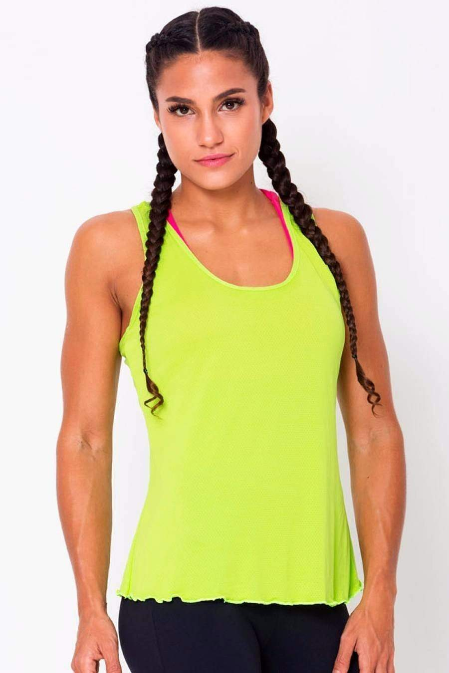 Lime Crossover Back Tank - SFG Wellness