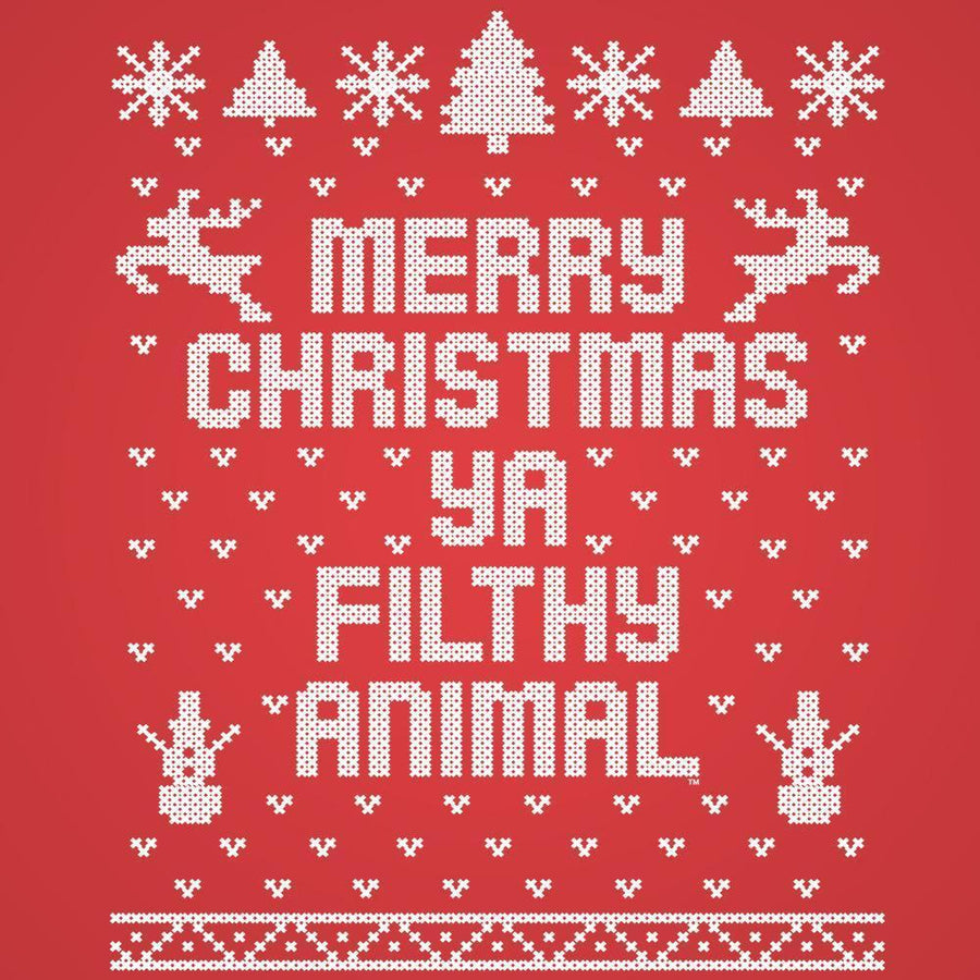 Merry Christmas Ya Filthy Animal Ugly Tank Top - Sam's Fitness Goods
