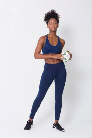 Navy Pocket Legging - Sam's Fitness Goods