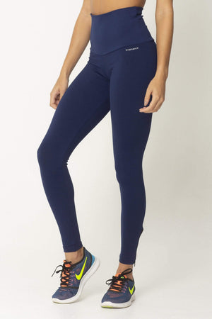 Navy Zip Up Detox High Up Legging - Sam's Fitness Goods