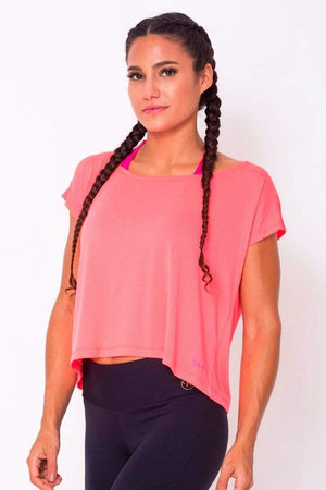 Peach Drop Tail Hem Tee - Sam's Fitness Goods