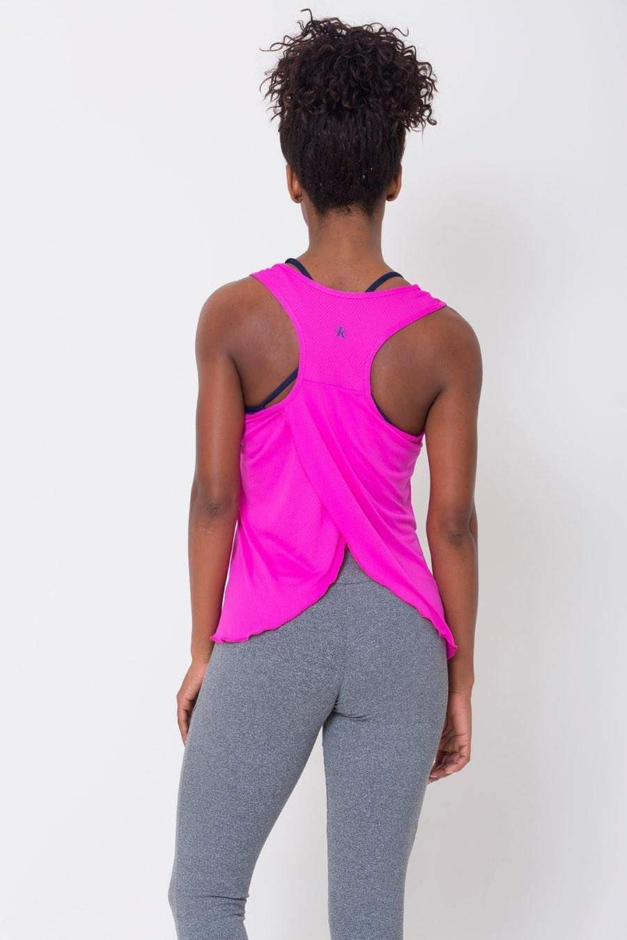 Pink Crossover Back Tank - Sam's Fitness Goods