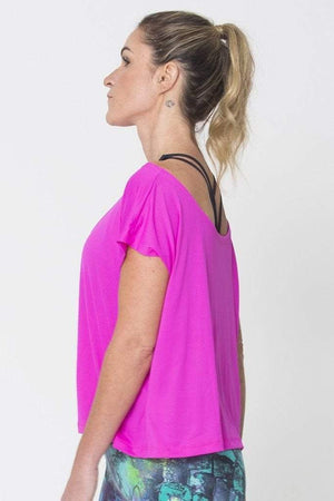 Pink Drop Tail Hem Tee - SFG Wellness