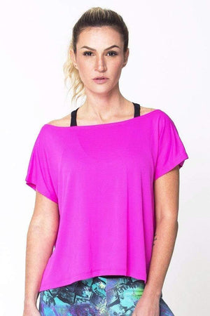 Pink Drop Tail Hem Tee - Sam's Fitness Goods