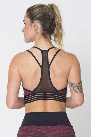 Red Action Sports Bra - Sam's Fitness Goods