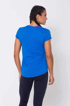 Royal Mesh-Paneled Tee - Sam's Fitness Goods