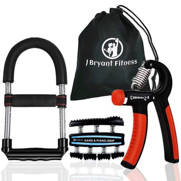 Spring Powered Hand & Forearm Grip Strengthener Combo Kit - Sam's Fitness Goods