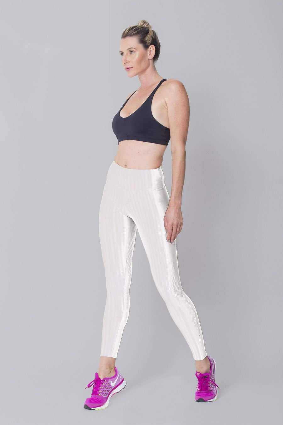 White 3D Disco Leggings - Sam's Fitness Goods