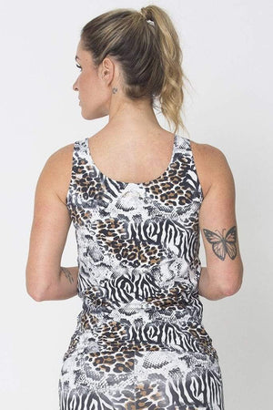 White Animal Active Tank - Sam's Fitness Goods