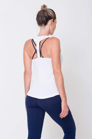 White Racerback Tank - Sam's Fitness Goods