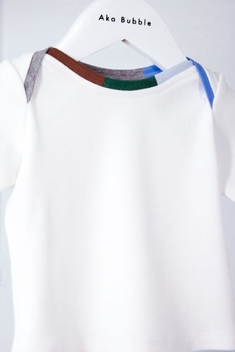 White Canvas Long Sleeve T-Shirt for Babies