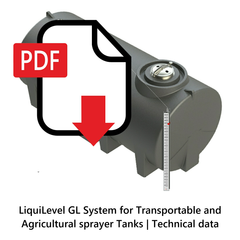LiquiLevel GL System for Transportable and Agricultural Sprayer Tanks | Technical Data
