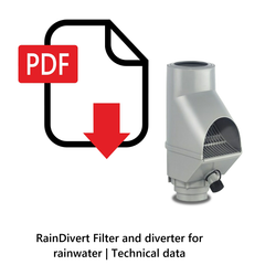 RainDivert Filter and diverter for rainwater | Technical data