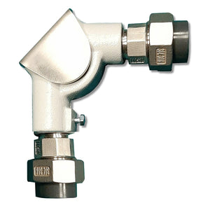 25mm 90 degree pulley elbow with PVC Adaptor for Float & Board Level Indicators