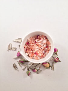 Sanctify Salt Soak, White Sage and Rose Bath Salts - Lumen Naturae
