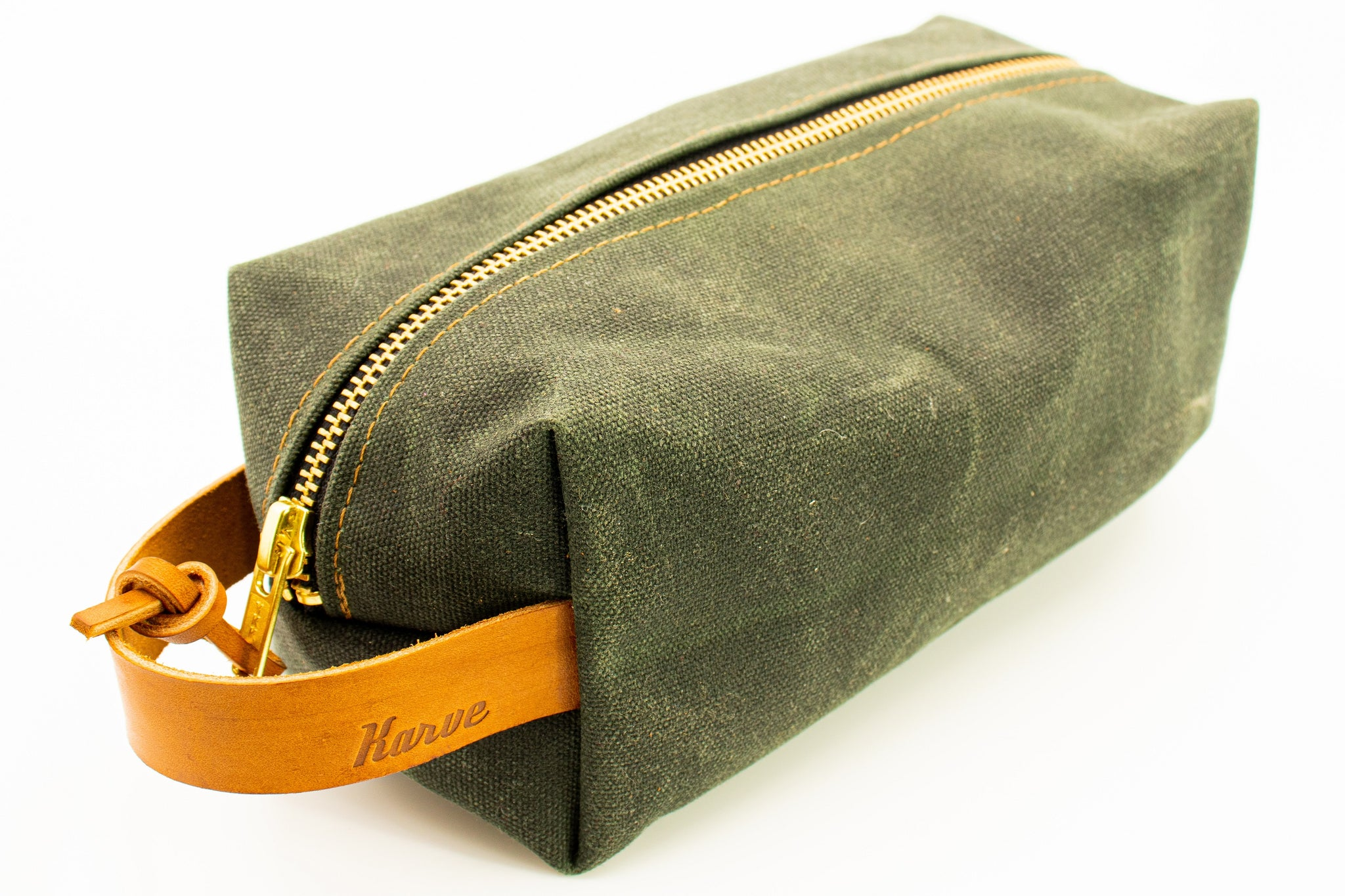 'Green Forest' Weekender Wax Canvas Dopp Kit