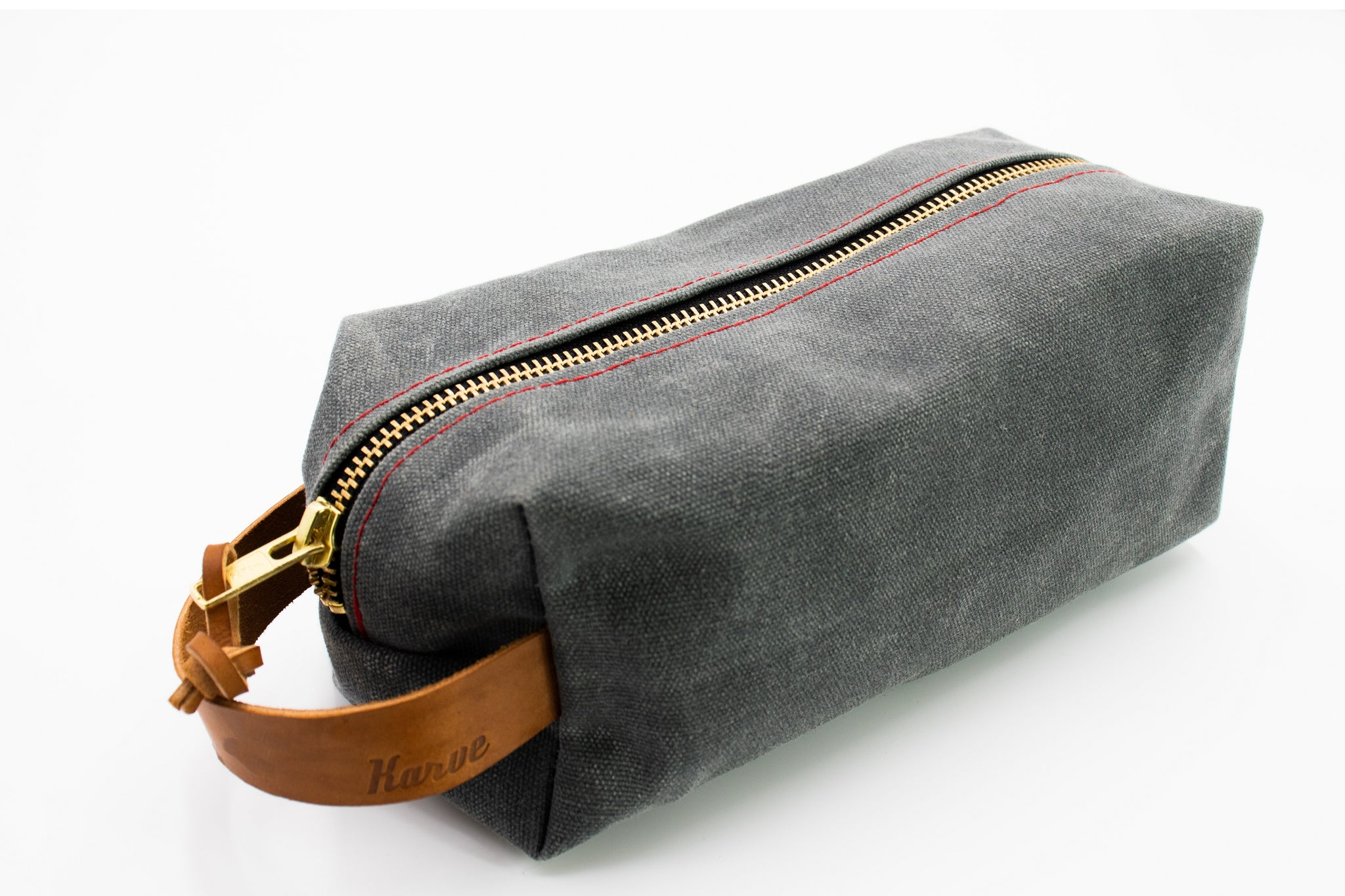 'Charcoal' Weekender Wax Canvas Dopp Kit