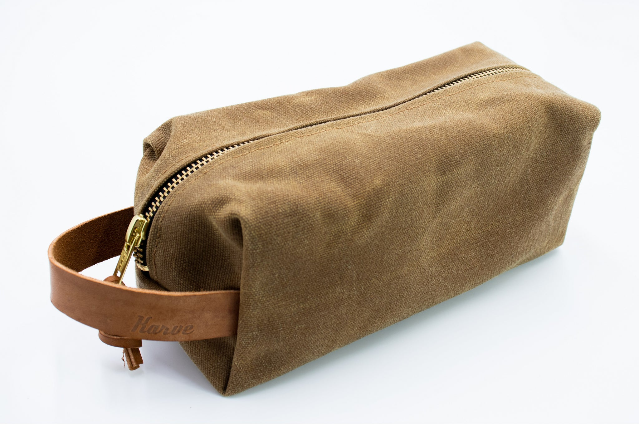 'Field Tan' Weekender Wax Canvas Dopp Kit