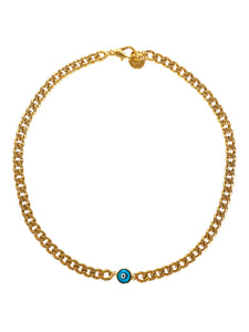 Gold Chunky Nazar Necklace Evil Eye