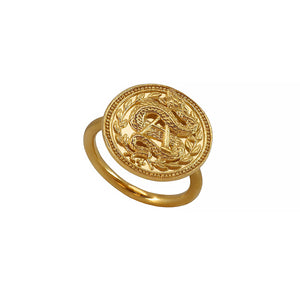 Blood type A Positive Sangre Ring. Silver, Gold Vermeil 血液型 Ketsueki gata Snake