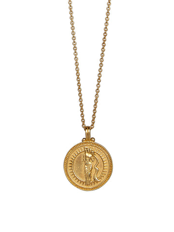 Aquarius Zodiac Horoscope Necklace Gender Neutral Gold Vermeil 水瓶座 星座