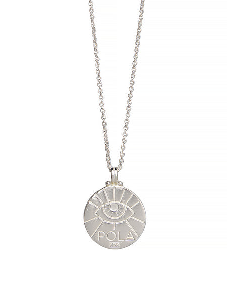 Pisces Zodiac Necklace Gender Neutral Sterling Silver Third Eye 魚座 星座