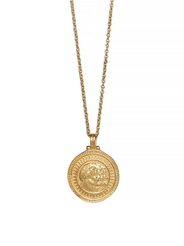 Gold Gemini Zodiac Horoscope Necklace Gender Neutral. 23c Vermeil. 星座 双子座