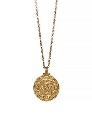 Libra Zodiac Horoscope Necklace Gender Neutral Gold Vermeil 星座 天秤座