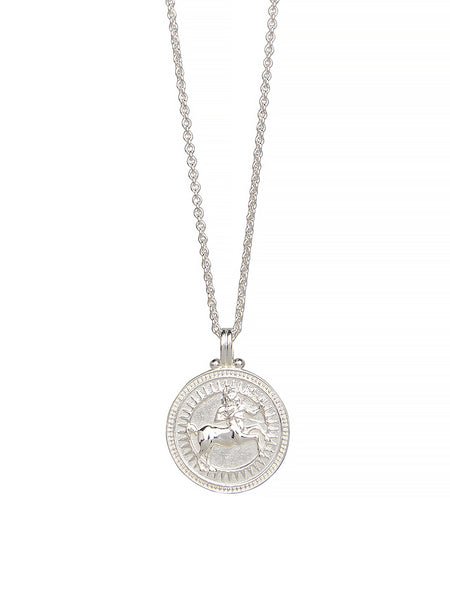 Sagittarius Zodiac Necklace Gender Neutral Sterling Silver星座 射手座