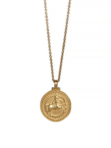 Sagittarius Zodiac Horoscope Necklace Gender Neutral Gold Vermeil 星座 射手座