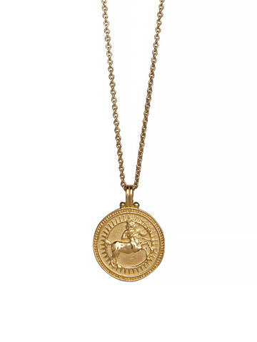 Sagittarius Zodiac Necklace Gender Neutral Gold Vermeil 星座 射手座