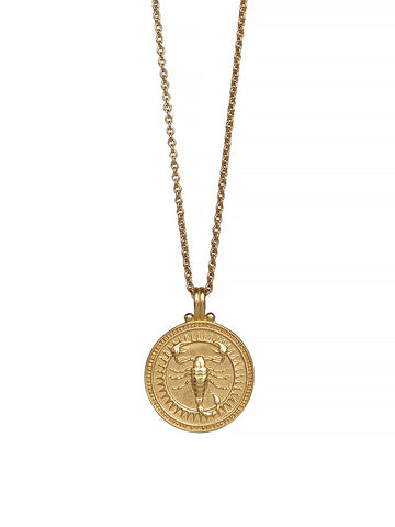 Scorpio Zodiac Necklace Gender Neutral Gold Vermeil 蠍座 星座