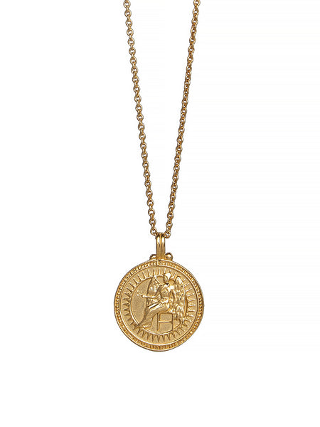 Virgo Zodiac Necklace Gender Neutral Gold Vermeil 星座 乙女座